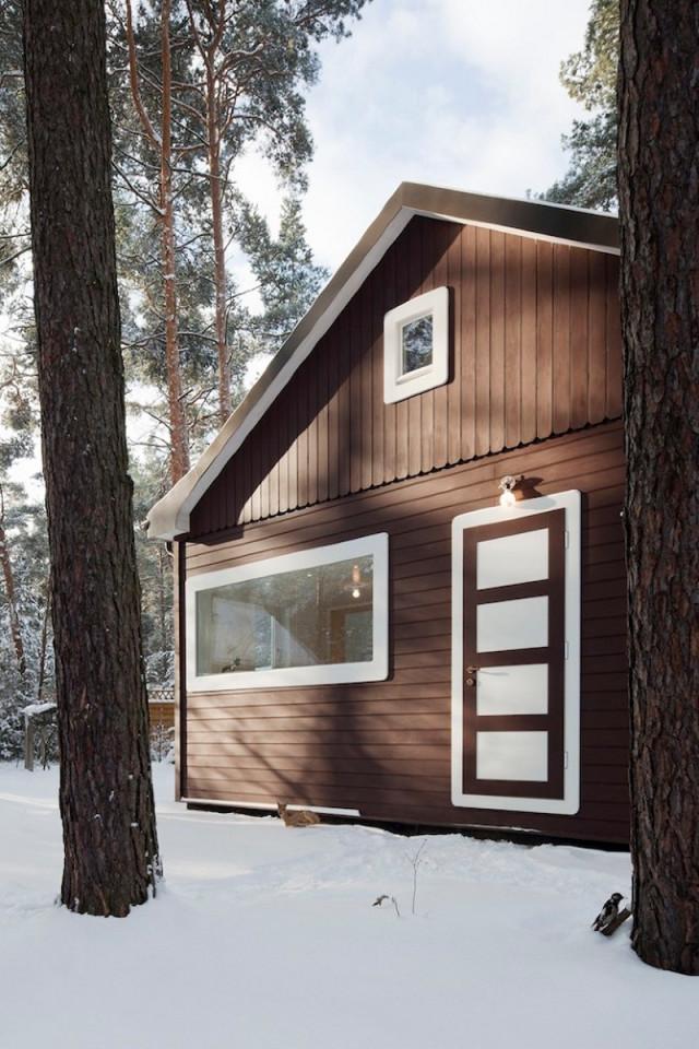 Waldhaus im märkischen Kiefernwald, Erstellungsdatum:12.2010, Architekt. atelier-st, Thaut, Bildtechnik:Kleinbild Digital