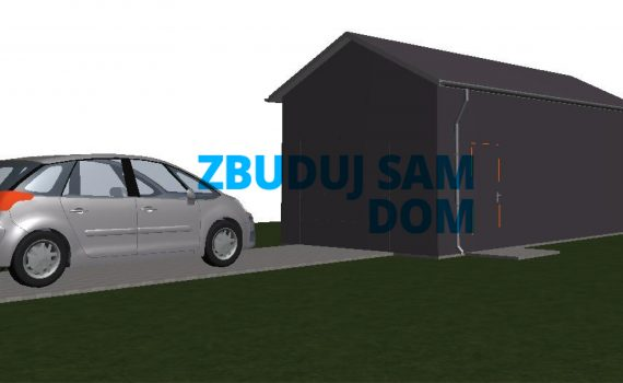 projekt garażu 35m2